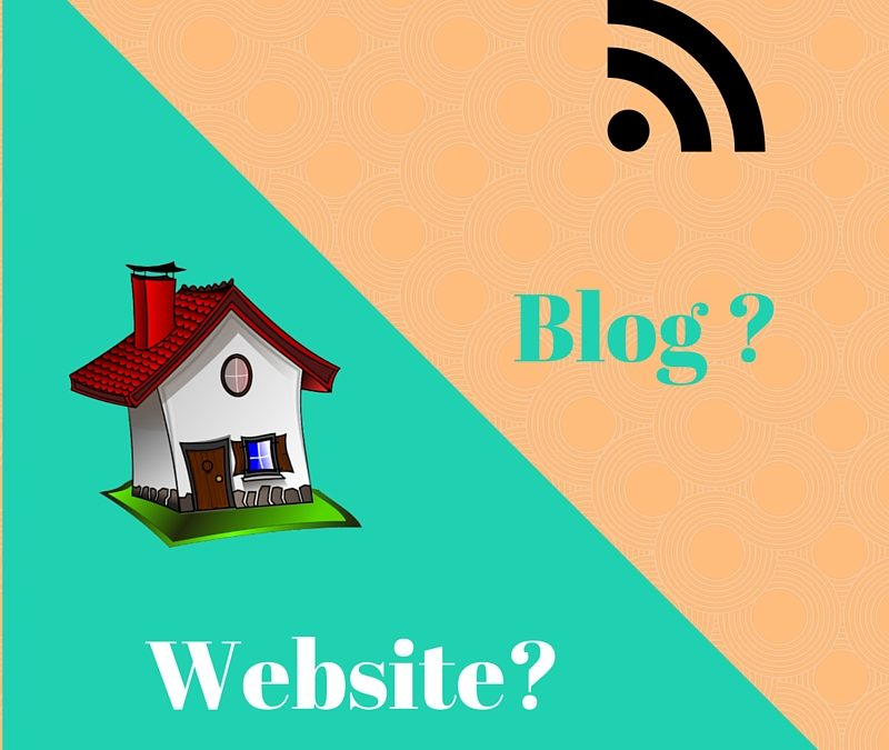 What is the difference between a Website and a Blog?