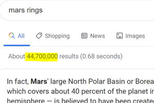Specific search for Mars rings
